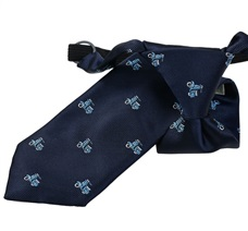 Dark Blue Scooter Boy's Tie