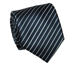 Dark Blue and Green Stripes Tie