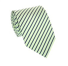 Deep Blue and Green Striped Tie