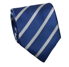Royal Blue Striped Tie