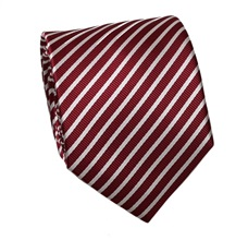 Burgundy Stripes Tie