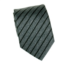 Dark Grey Striped Tie