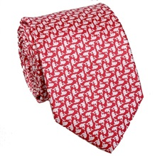Red Tie with Dolphins