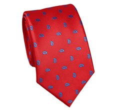 Red Tie with Blue Paisley