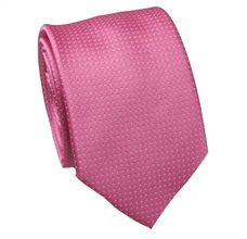 Pink Tie with White Dots