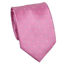 Pink Tie with Dots