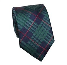 Blue and Green Checked Silk Tie