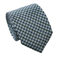 Green Square Natural Silk Tie