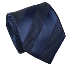 Dark Blue Stripes Silk Tie