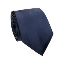 Dark Blue Tie and Pocket Square