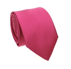 Magenta Tie and Pocket Square