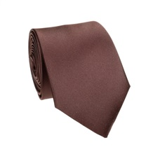 Dark Brown Tie and Pocket Square