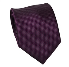 Magenta Natural Silk Tie and Pocket Square