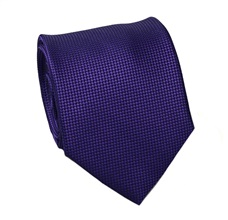 Purple Natural Silk Tie and Pocket Square