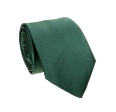 Dark Green Tie and Pocket Square