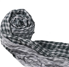 Grey Checked Foulard