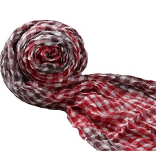 Red Checked Foulard