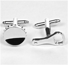 Bottle Top & Opener Metal Cufflinks