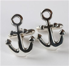 Anchor Boat Silver Cufflinks