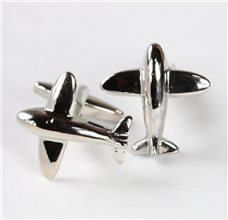 Airplane Metal Cufflinks
