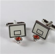 Basketball Metal Cufflinks