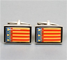 Valencian Community Flag Cufflinks