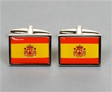 Spanish Flag Metal Cufflinks