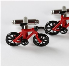Red and Black Bikes Cufflinks