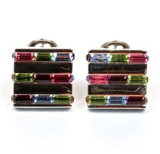 Multicolor Zircon Cufflinks