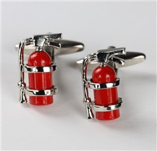 Fire Extinguisher Metal Cufflinks