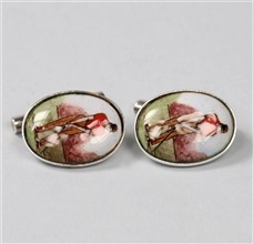Golf Silver 925mm Cufflinks