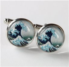 """The Great Wave"" Cufflinks"