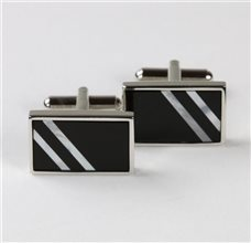 Onice and Mother-of-Pearl Cufflinks
