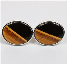 Onyx and Tigers Eye Cufflinks