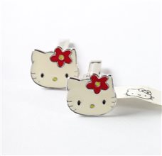 Hello Kitti Silver Cufflinks