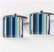 Blue Stripes Cufflinks