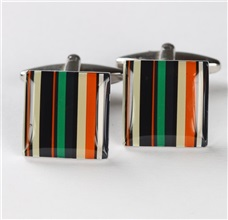 Green and Orange Cufflinks