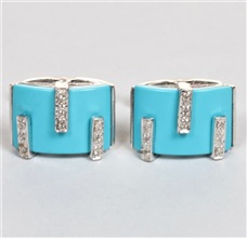 Silver Turquoise Cufflinks