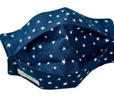 Navy Blue Reusable Mask with Stars