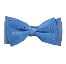 Light Blue Bow Tie with Design