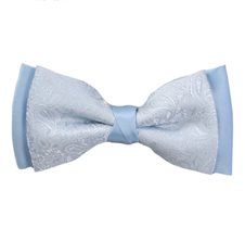 Sky Blue Bow Tie with Paisley