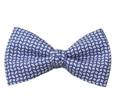 Blue Bow Tie with Links