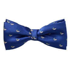 Royal Blue Bow Tie with Ducks
