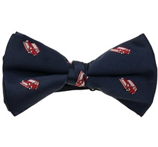 Dark Blue Bow Tie with Red Car Mini