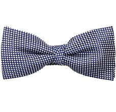 Dark Blue Dots Bow Tie with White Dots