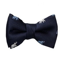 Blue Baby's Bow Tie with Elephants