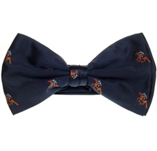 Deep Blue Bow Tie with Jockey