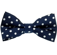 Blue Bow Tie with White Dots