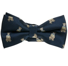 Blue Bow tie with Grey Bears