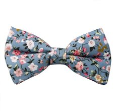 Blue Bow Tie with Liberty Flowers